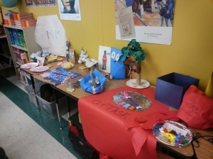 "The table where we shared our ""artifacts"""